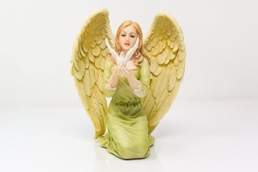 Angel and Dove Statue.