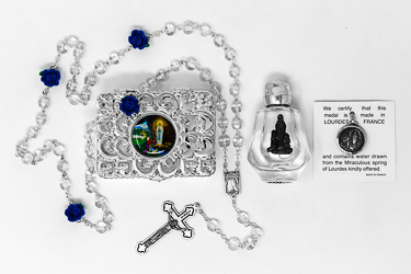 Virgin Mary Pendant & Rosary Gift Set.