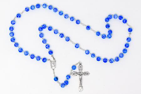 Blue Murano Glass Rosary Beads.