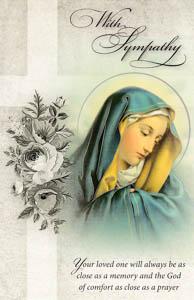 Jesus Sympathy Mass Card.