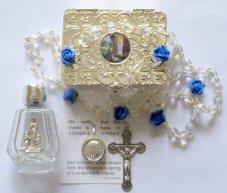 Virgin Mary Pendant & Rosary Gift Set.