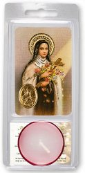 Saint Threresa Votive Candle.