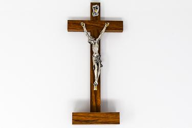 Mahogany Standing Crucifix.
