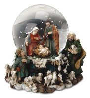 Water Globe Christmas Nativity.