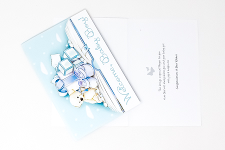 Welcome Card For a Baby Boy.