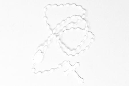 White Plastic Rosary.