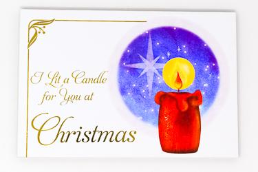 Christmas I Lit a Candle  Wood Post A Plaque .