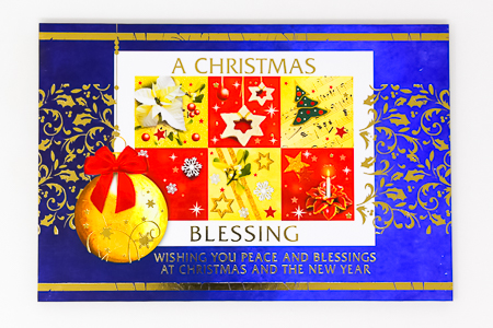 Christmas Card Wood Post A Plaque .
