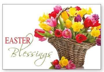 Post A Plaque Easter Blessings.