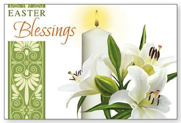Post A Plaque Easter Card.