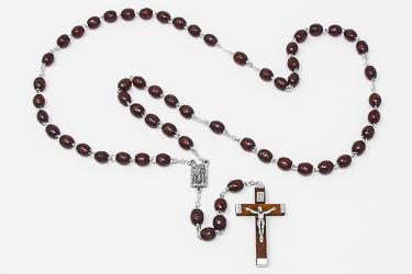 Bernadette Brown Rosary beads