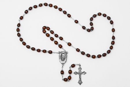 Wooden Water Rosary Beads.