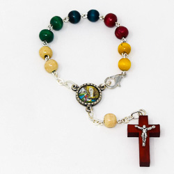 Wooden Missionary Car Rosary.