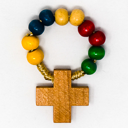 Wooden Missionary Rosary Ring.