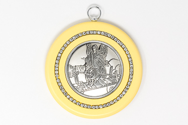Guardian Angel Silver Plated Crib Medal.
