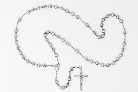 925 Silver Rosary Beads.
