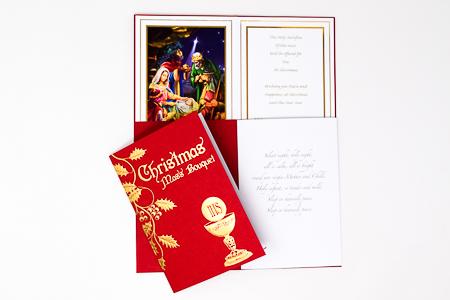 De-Luxe Christmas Mass Bouquet Card.