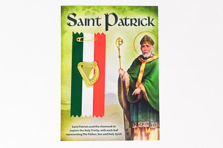 Saint Patrick Harp Badge.
