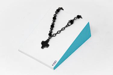 Fidei Religious Silver Bracelet.