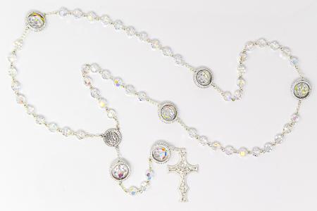 925 Lourdes Crystal Rosary.