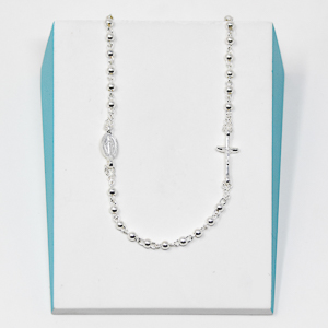 925 Sterling Silver Miraculous Rosary.
