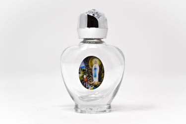 Heart Lourdes Holy Water Bottles.