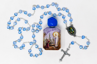 Rosary & Lourdes Water Gift Set.