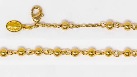 Miraculous Medal Gold Bracelet.