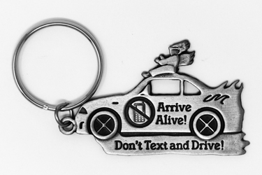 Don't Text & Drive Key Ring.