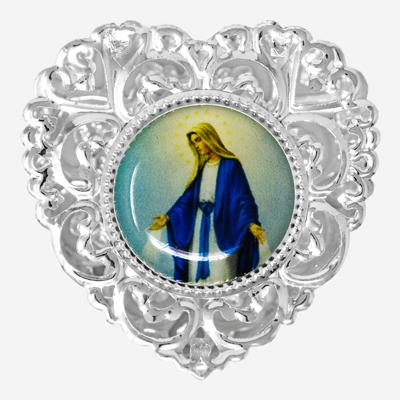 Miraculous Heart Shaped Rosary Box.