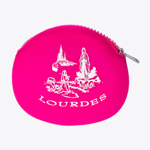 Pink Rubber Rosary Purse.