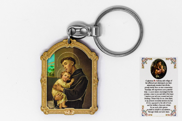 St Anthony Key Chain & Prayer Card.