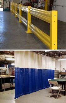 Warehouse Safety Railings and Curtains