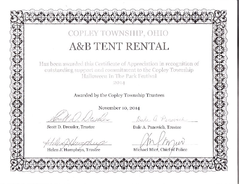 A And B Tent Rental Tent Sales Has Been Locally Owned
