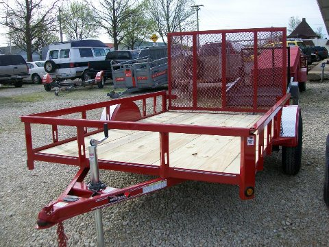 New 2020 6 1/2 X 12 Fold-up Rear Gate Trailer