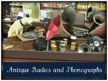 antique radios and phonographs