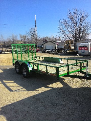 New 2020 Heartland 14' Trailer with a 4' Gate