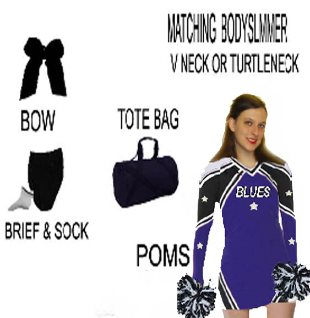 CHEERLEADER UNIFORM PACKAGE