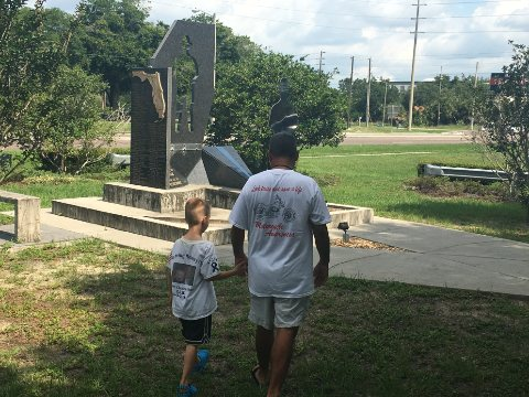 Six-year-old starts effort to repair Tampa's Fallen Trooper Memorial