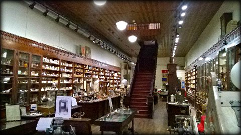 inside view of the pharmacy and medical museum