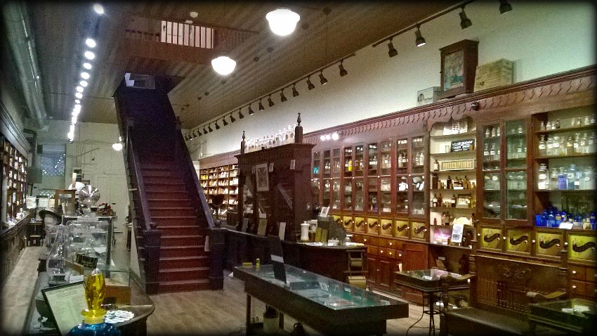 interior shot of pharmacy and medical museum