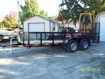 New 2020  16ft. Tandem Axle Trailer