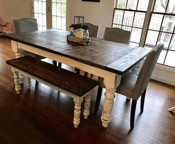 Hand Crafted Table & Bench