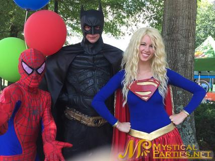 Super Heroes at Mystical Parties