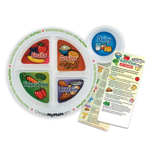 MyPlate Adult Portion Meal Plate With Glancer  Item # VP-5038