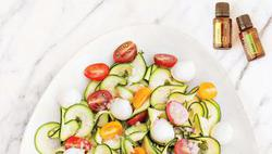 Zuchini Tomato Basil Salad
