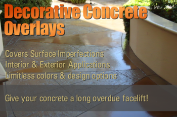 Decorative Concrete Overlay Contractor Portland Vancouver