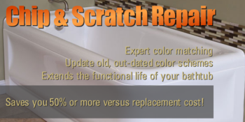 Bathtub Chip & Scratch Repair Color Matching Contractor Portland Vancouver