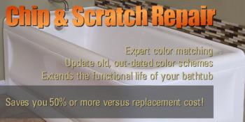 Bathtub Chip & Scratch Repair Color Matching Contractor Portland Vancouver