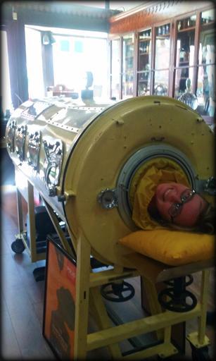 iron lung antique medical equipment